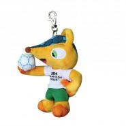 Keyring 13cm Plush FULECO Mascotte Brazil Soccer World Cup 2014