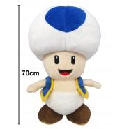 Plush Soft Toy TOAD BLUE Mushroom XXL 70cm (27.5 inches) ORIGINAL SUPER MARIO Bros Kart Land NEW