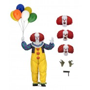 Figura Action PENNYWISE Stephen King Dal Film IT del 1990 Pagliaccio Clown Versione ULTIMATE Originale NECA