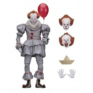 Figura Action PENNYWISE Stephen King Dal Film IT del 2017 Pagliaccio Clown Versione ULTIMATE Originale NECA