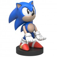 SONIC HEDGEHOG Figura 20cm RICCIO Porta Cellulare PHONE & Controller HOLDER - Cavo Micro USB/Lightning incluso - Cable Guy