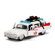 GHOSTBUSTERS Auto Ambulanza ECTO-1 Modello 13cm Scala 1/32 DieCast METALLO Originale JADA TOYS