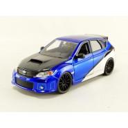FAST FURIOUS DieCast Model BLUE AND SILVER Brian's SUBARU IMPREZA WRX STI  Scale 1/24 Original JADA Toys