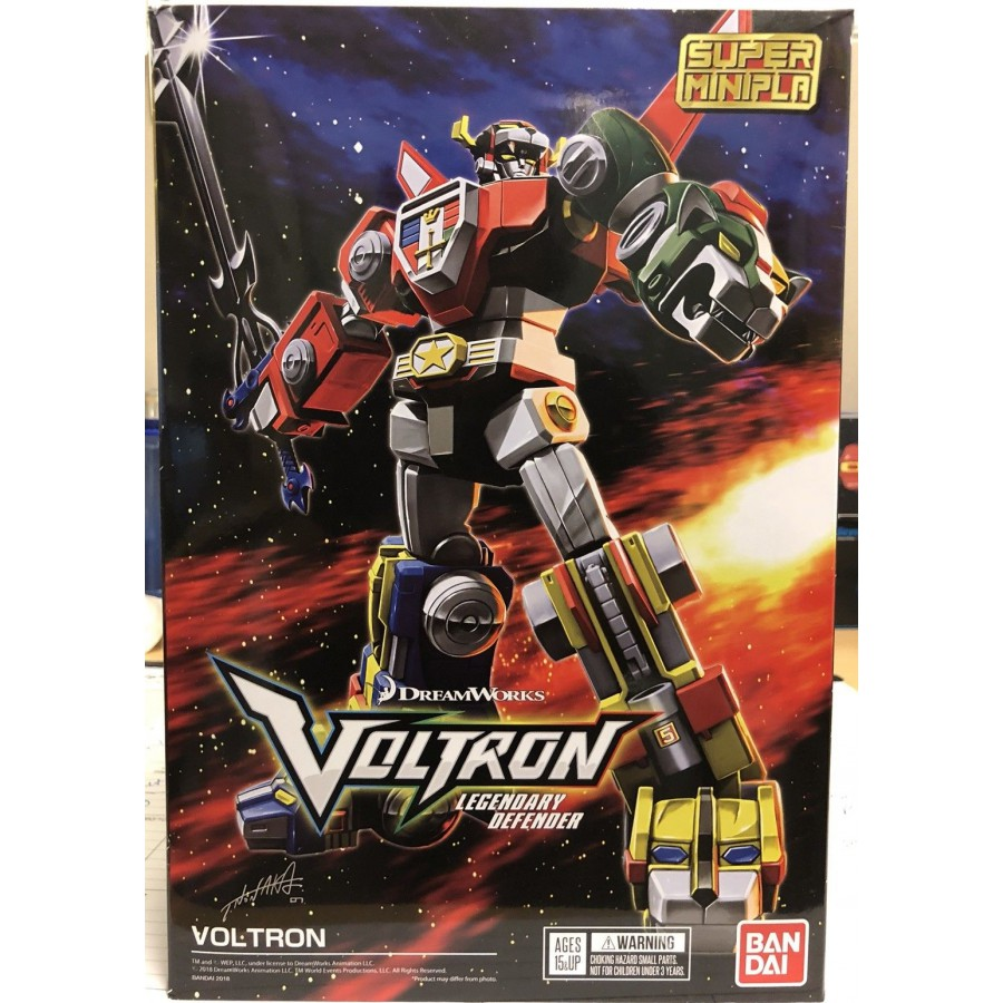 Voltron Model Snap Kit Super Minipla Legendary Defender