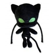 Plush PLAGG Kwami 20cm from MIRACULOUS LADYBUG Official ORIGINAL Black