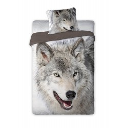 Copripiumino Singolo Animali.Single Bed Set Cotton Duvet Cover Wolf Animal And Nature 160x200cm