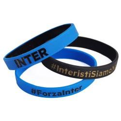 a basso prezzo 3c3fc e21cc SET 3 BRACCIALETTI Gomma Originali INTER Internazionale Nerazzurri Ufficiali