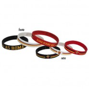 SET 3 RUBBER BRACELETS Original AS ROMA Football Soccer CLUB Official