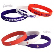 SET 3 RUBBER BRACELETS Original ACF FIORENTINA La Viola Football Soccer CLUB Official
