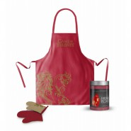 GAME OF THRONES Gift Set APRON and GLOVE for KITCHEN Lannister HEAR ME ROAR Original
