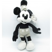 Plush MICKEY Mouse STEAMBOAT WILLIE 90 years 37cm ORIGINAL Official DISNEY Black and White