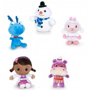 SET COMPLETO 5 Diversi DOTTORESSA PELUCHE 20cm DISNEY Originali Dottie Bianchina Draghetto etc.
