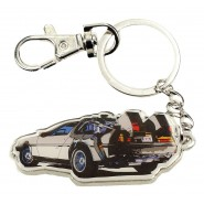 METAL KEYRING DeLorean Car BACK TO THE FUTURE Original Official SD TOYS