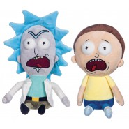 Set 2 Plushies RICK and MORTY Screaming 25cm ORIGINAL Official SOFT TOYS