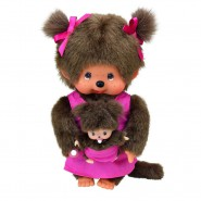 MONCHHICHI Mother and Baby PLUSH Figure 18cm Original With BOX Moncicci