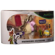 ZOOTOPIA Box 7 PIECES Figures Operation Red Wood ORIGINAL Tomy Rocco
