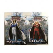 COUPLE 2 RARE Figures Statues 18cm AOKIJI and AKAINU Admirals ONE PIECE Navy MARINE VOL. 2 Original BANPRESTO 2011