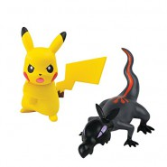 POKEMON Box 2 Mini Figure SALANDIT Contro PIKACHU Originali TOMY Battle Pose