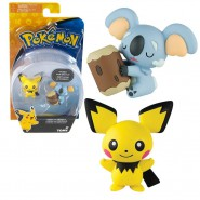POKEMON Box 2 Mini Figure PICHU Contro KOMALA Originali TOMY Battle Pose