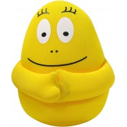 BARBAPAPA Plush Soft Toy 18cm YELLOW Anti-Stress with MAGNETS and MINI POCKET