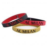 SET 3 RUBBER BRACELETS Original AC MILAN Football Soccer CLUB Official