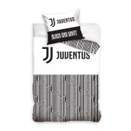 Set Letto Ufficiale JUVENTUS Juve Black And White Federa COTONE 160x200 Originale