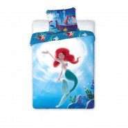 BED SET Duvet Cover ARIEL Disney Princess 160x200 COTTON