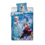 Bed Set FROZEN Anna Elsa Olaf SISTERS FOREVER Disney DUVET COVER 160x200 Cotton