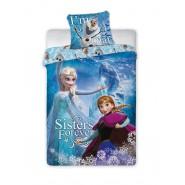 Set Letto FROZEN Anna Elsa Olaf SISTERS FOREVER Disney COPRIPIUMINO 160x200 e FEDERA Cotone
