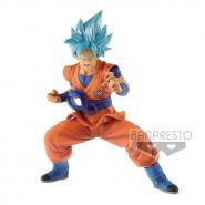 DRAGONBALL SUPER  HEROES Figure Statue 18cm SON GOKOU Super Saiyan GOD Blue Hair Banpresto JAPAN