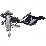 Figura MONKEY D LUFFY RUFY da ONE PIECE Magazine 22cm Original Monocromatica (Bianco e Nero) Banpresto Versione B