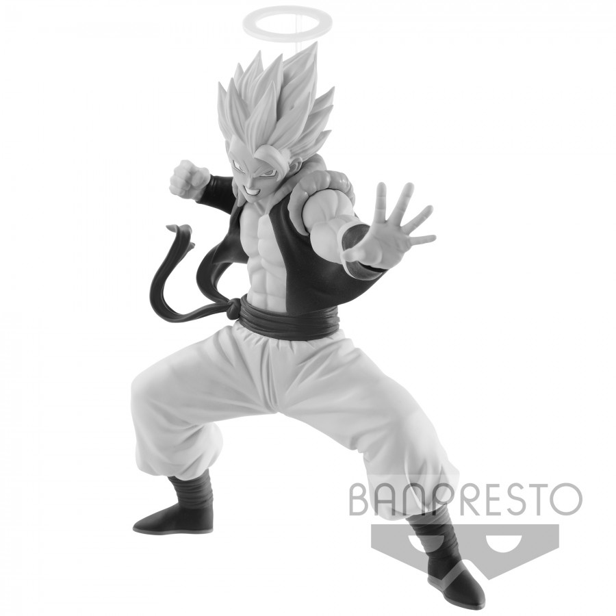 Dragonball z figure gogeta 13cm black white original banpresto scultures budoukai colosseum 7 champion version b
