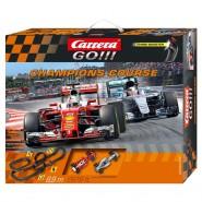 Electric SLOT CAR Racing CHAMPIONS COURSE Mercedes HAMILTON VS Ferrari VETTEL 8,90 Meter CARRERA GO