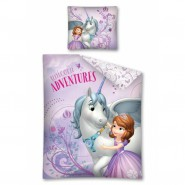 Set Letto Principessa SOFIA Unicorno Disney Junior COPRIPIUMINO 160x200 e FEDERA Cotone Unicorn Adventures