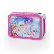 FROZEN Anna Elsa Pencilcase 3 POCKETS 44 Pieces ORIGINAL Official DISNEY