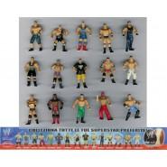 RARO Set Completo 15 Mini Figure WRESTLING Wrestler Originali Giochi Dolci Preziosi