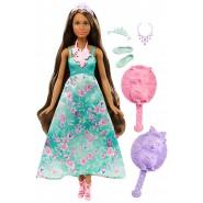 BARBIE Bambola Fashion 30cm Pettine DREAMTOPIA Mattel DWH43 Vestito Verde Capelli cambiano colore