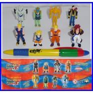 RARO Set Completo 8 Mini Figure DRAGONBALL GT Originali Giochi Dolci Preziosi