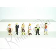 Rare COMPLETE SET 6 Mini Figures ONEPIECE Original Giochi Dolci Salati Preziosi
