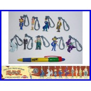 Rare COMPLETE SET 9 Mini Figures YU-GI-OH Keyring Keychain Original Giochi Dolci Preziosi