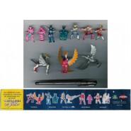 RARO Set Completo 5 Mini Figure + 5 accessori CAVALIERI DELLO ZODIACO Saint Seiya Originale Dolci Preziosi