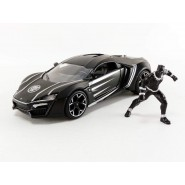 LYKAN HYPER SPORT With Figure Black Panther 1:64 GREENLIGHT DIE CAST  Marvel Avengers