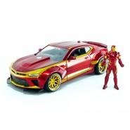 Modellino 2016 CHEVY CAMARO Con Figura Iron Man 1:64 DIE CAST Marvel Avengers JADA Toys