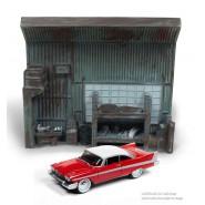 Christine Macchina Infernale Diorama DARNELL'S Garage e Modellino Christine Scala 1:64 Originale Johnny Lightning Release 1