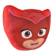 CUSCINO Peluche GUFETTA PJ Masks 30x28cm ORIGINALE Ufficiale Rosso Morbido
