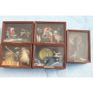 SET 5 Trading Figures CINEMAGIC MUSEUM Part 3 NIGHTMARE BEFORE CHRISTMAS Mini Boxes DIORAMAS Yujin Giappone
