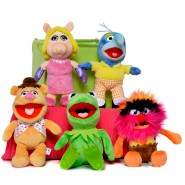 COMPLETE SET 5 Plushies MUPPETS 20cm Soft Toys Kermit Frog Gonzo Fozzie Bear Miss Piggy Animal DISNEY Original Posh Paws