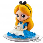 Figure Statue 10cm ALICE In Wonderland BLUE Dress SUGIRLY QPOSKET Banpresto DISNEY NORMAL Version A