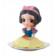 Figure Statue 10cm SNOW WHITE and the seven dwarfs PASTEL Color Ribbon SUGIRLY QPOSKET Banpresto DISNEY Version B