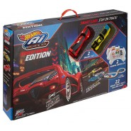 Electric SLOT CAR Track AI Street Racer Edition with artificial intelligence and two cars HOTWHEELS FDY09